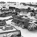 Nazi Tanks On The Outskirts Of Stalingrad 1942 by David Lee Guss