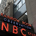 Nbc Studio Rainbow Room Sign by Lorraine Devon Wilke