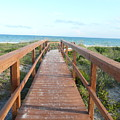 Nc Beach Boardwalk by Barb Montanye Meseroll