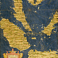 Indochinese Peninsula And Major Islands Of Indonesia by Italian painter of the 16th century