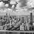 Near North Side And Gold Coast Black And White by Adam Romanowicz