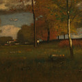Near The Village, October by George Inness