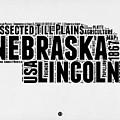 Nebraska Word Cloud 2 by Naxart Studio