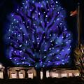 Needham's Blue Tree by Jean Pacheco Ravinski