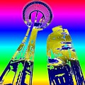 Needle And Ferris Wheel Fractal by Tim Allen