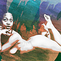 Neemah African American Nude Girl In Sexy Sensual Painting 4766. by Kendree Miller