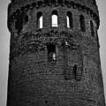Nenagh Castle Tower Bw by Teresa Mucha