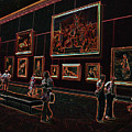 Neon Art Gallery At Louvre by Carl Purcell