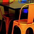 Neon Chairs 1 by Bonnie See