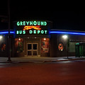 Neon Greyhound Bus Depot Sign by Chris Flees