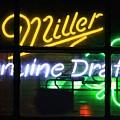 Neon Miller Beer by Douglas Sacha