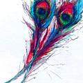 Neon Peacock by Tiffany Hunter