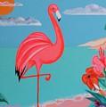 Neon Island Flamingo by Jean Clarke
