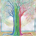Neon Rainbow Tree By Jrr by First Star Art
