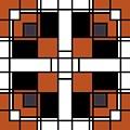 Neoplasticism Symmetrical Pattern In Tijuna Gamboge by Heidi De Leeuw