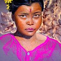 Nepalese Girl by David  Horning