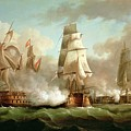 Neptune Engaging Trafalgar by J Francis Sartorius