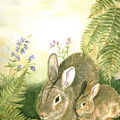 Nesting Bunnies by Patricia Pushaw