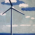 Netherlands Wind Turbine by Lesley Giles