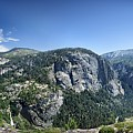 Nevada And Vernal Falls From Near Grizzly Peak - Yosemite Valley by Bruce Lemons