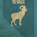 Nevada State Facts Minimalist Movie Poster Art by Design Turnpike