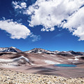Nevado Ojos Del Salado And Laguna Negra by Olivier Steiner