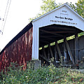 Nevins Covered Bridge Indiana by Steve Gass