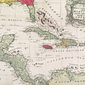 New And Accurate Map Of The West Indies by American School