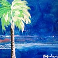 New Blue Horizons Palm Tree by Kristen Abrahamson