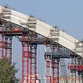 New Bridge Concrete Arc Construction Site by Goce Risteski