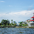 New Canal Lighthouse And Lakefront - Nola by Kathleen K Parker