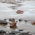 New England Beach With Rocks And Waves by Michelle Himes