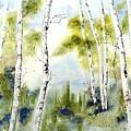 New England Birches by Diane Kirk