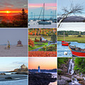 New England Collage Maine New Hampshire Vermont Massachusetts Rhode Island Connecticut by Toby McGuire