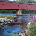 New England Covered Bridge Connecticut by Bill Wakeley
