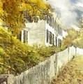 New England Fall Foliage Pencil by Edward Fielding