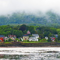 Granville Ferry Nova Scotia Canada  Fog Lifting by Martha Huard