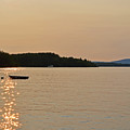 New England Four Seasons Summer Lake Winnipesaukee Sunset Row Boat by Toby McGuire