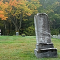 New England Graveyard During The Autumn  by Erin Paul Donovan