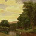 New England Landscape by Aaron Draper Shattuck
