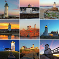 New England Lighthouse Collage by Toby McGuire