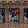 New England Patriots Brick Wall by Joe Hamilton