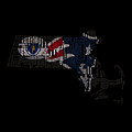 New England Patriots Typographic Map 03 by Brian Reaves