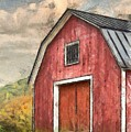 New England Red Barn Pencil by Edward Fielding
