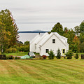 New England Traditional House In The Fall by Enrico Della Pietra