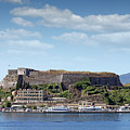 new fortress and port Corfu town Greece by Goce Risteski