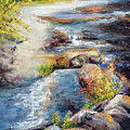 New Hampshire Creek In Fall by Philip Lodwick Wilkinson