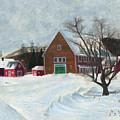 New Hampshire Farm In Winter by Dominic White