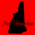 New Hampshire In Black by Custom Home Fashions