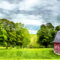 New Hampshire Landscape Red Barn Etna by Edward Fielding